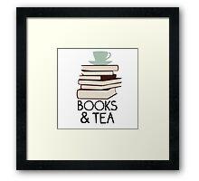 Books and tea des Framed Print