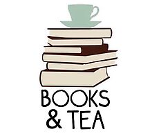 Books and tea des Photographic Print