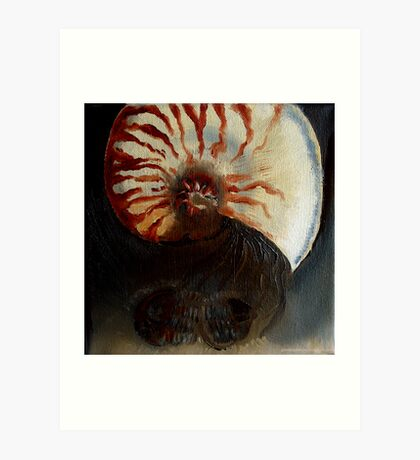 Ammonite Vs. Trilobite Art Print