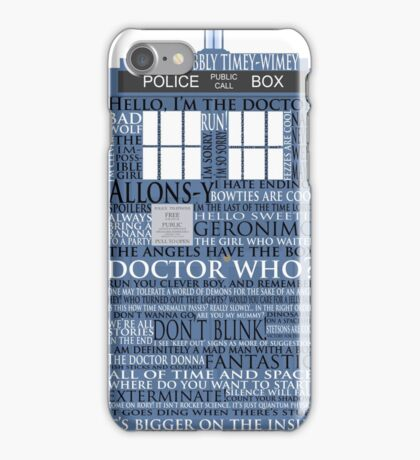 Dr. Who Whovian fans iPhone Case/Skin