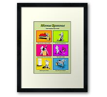 Motion Rotation - Life working from home (green) Framed Print