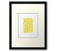 Cheerful happy yellow print Framed Print