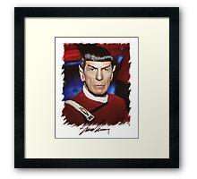 Leonard Nimoy - Mr Spock Digital Painting Signed Photo - Star Trek  autograph Framed Print
