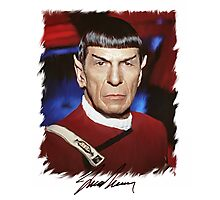 Leonard Nimoy - Mr Spock Digital Painting Signed Photo - Star Trek  autograph Photographic Print
