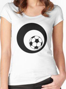 futbol : retro circles Women's Fitted Scoop T-Shirt