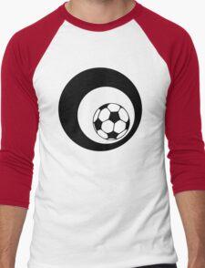 futbol : retro circles Men's Baseball ¾ T-Shirt