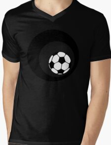 futbol : retro circles Mens V-Neck T-Shirt