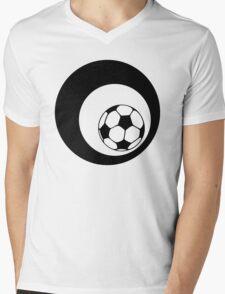 futbol : retro circles Mens V-Neck T-Shirt