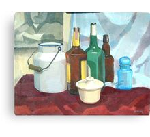 College Beverage Still Life Canvas Print