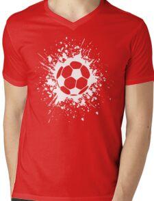 futbol : soccer splatz Mens V-Neck T-Shirt