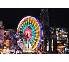 Edinburgh's Christmas Ferris Wheel Photographic Print