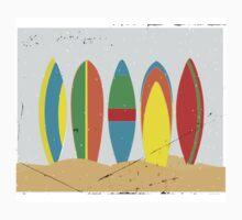 Surfboards, beach, summer, sun, surf, surfing  T-Shirt