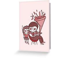 Children`s imagination Greeting Card
