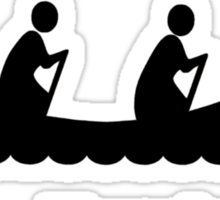 Paddle faster Sticker