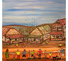 """The Bus is coming""  EJCairns Original Painting Sold  Photographic Print"
