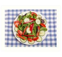 Fresh Salad from Above Art Print