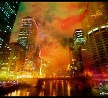 Chitown River Nightglow by ecannon11