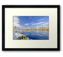 Burton's Wintry River Trent  Framed Print