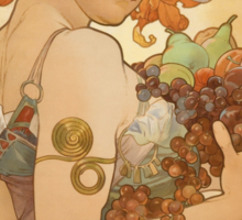 'Fruit' by Alphonse Mucha (Reproduction) Sticker