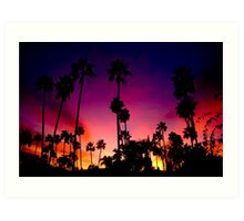 Sunset over San Diego Art Print