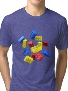 Falling Toy Bricks Tri-blend T-Shirt