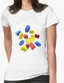 Falling Toy Bricks Womens Fitted T-Shirt