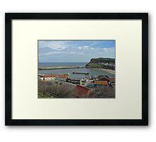 Whitby Lower Harbour  Framed Print