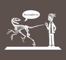 """""""You Complete Me"""" Dinosaur Tee Kids Clothes"""