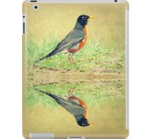 American Robin At Water's Edge iPad Case/Skin
