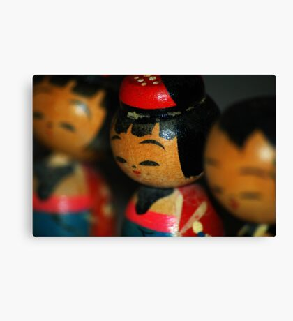 Doll Friends Canvas Print