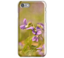 Playful Wild Violets iPhone Case/Skin