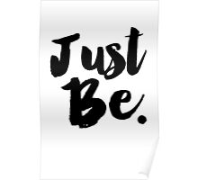 Just Be Black Typography Poster