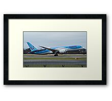 Thomson 787 Dreamliner departing Manchester Airport Framed Print