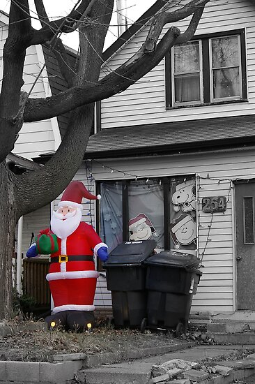 Christmas in Suburbia.... Simple is more... by Larry Llewellyn