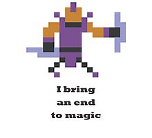 Anti-mage - I bring an end to magic Photographic Print
