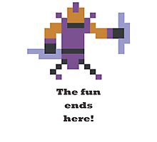 Anti-mage - The fun ends here Photographic Print