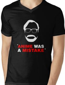 """Anime Was A Mistake"" - White Design Mens V-Neck T-Shirt"