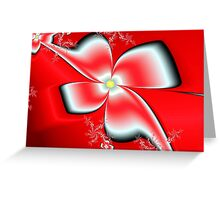 Red Asian Floral Greeting Card