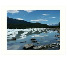 Patagonia, icebergs at Onelli bay Art Print