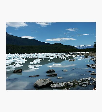 Patagonia, icebergs at Onelli bay Photographic Print