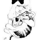Jessica - Girl Art Print by burntfeather