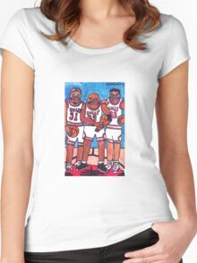 The Bulls Women's Fitted Scoop T-Shirt