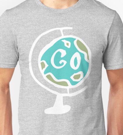 Hand drawn GO World Globe Unisex T-Shirt