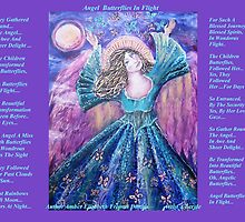 Angel Butterflies in Flight with lovely Amber by Cheryle