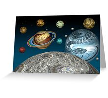 To The Moon And Beyond Greeting Card
