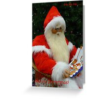Ho Ho Ho Merry Christmas Greeting Card