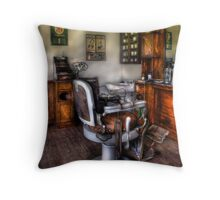 The Barber Chair Throw Pillow