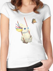 Pooky Swinging with a Butterfly Women's Fitted Scoop T-Shirt