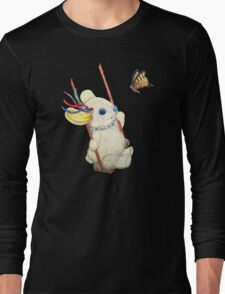 Pooky Swinging with a Butterfly Long Sleeve T-Shirt