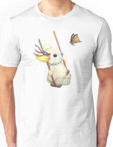 Pooky Swinging with a Butterfly Unisex T-Shirt